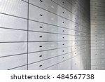 safe lockers  safe deposit... | Shutterstock . vector #484567738