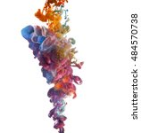 colorful paints dropped... | Shutterstock . vector #484570738