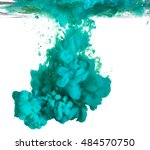 light blue paint dropped into... | Shutterstock . vector #484570750