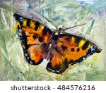 Butterfly On The Grass Oil...