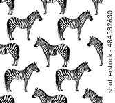 seamless pattern with wild... | Shutterstock .eps vector #484582630