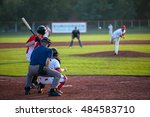 baseball ready for hit. | Shutterstock . vector #484583710