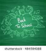 green blackboard background... | Shutterstock .eps vector #484584088