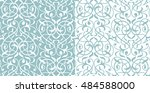 damask seamless white and blue... | Shutterstock .eps vector #484588000