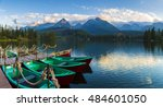 boat on the dock surrounded... | Shutterstock . vector #484601050