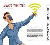 always connected  internet... | Shutterstock .eps vector #484604818