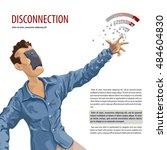 disconnection  internet concept ... | Shutterstock .eps vector #484604830