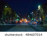 view of the street in the city... | Shutterstock . vector #484607014