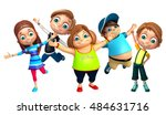 3d rendered illustration of kid ... | Shutterstock . vector #484631716