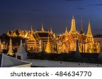 thailand temple travel grand... | Shutterstock . vector #484634770