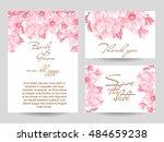 vintage delicate invitation... | Shutterstock .eps vector #484659238