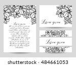 romantic invitation. wedding ... | Shutterstock . vector #484661053