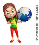 3d rendered illustration of kid ... | Shutterstock . vector #484663288