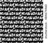 black and white leaves seamless ...   Shutterstock .eps vector #484674460