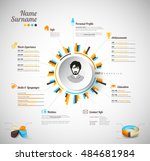 creative  color rich cv  ... | Shutterstock .eps vector #484681984