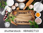 baking ingredients for homemade ... | Shutterstock . vector #484682713