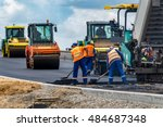close view on the workers and... | Shutterstock . vector #484687348
