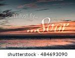 inspirational motivational... | Shutterstock . vector #484693090