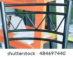 steel structure of back of chair | Shutterstock . vector #484697440