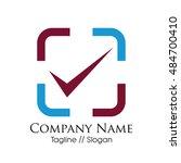 check mark logotype vector | Shutterstock .eps vector #484700410