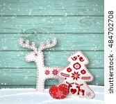 christmas background  small... | Shutterstock .eps vector #484702708