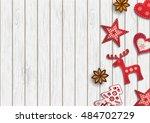 christmas background  small... | Shutterstock .eps vector #484702729