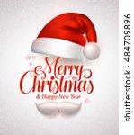 merry christmas title... | Shutterstock .eps vector #484709896