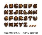 handmade chocolate font | Shutterstock .eps vector #484710190