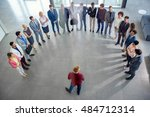 group of business people having ...   Shutterstock . vector #484712314