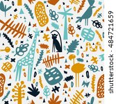 african seamless pattern with... | Shutterstock .eps vector #484721659