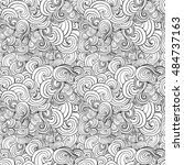 big seamless pattern with black ... | Shutterstock .eps vector #484737163
