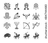 american indian tribe icons....