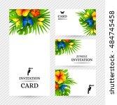 summer tropical hawaiian... | Shutterstock .eps vector #484745458