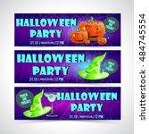 halloween banner set   Shutterstock .eps vector #484745554