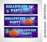 halloween banner set   Shutterstock .eps vector #484745563