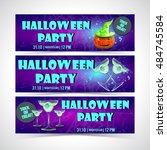 halloween banner set | Shutterstock .eps vector #484745584