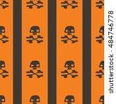 seamless patterns with skulls...   Shutterstock .eps vector #484746778