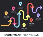 road way location infographic... | Shutterstock .eps vector #484748668