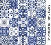 big set of tiles background.... | Shutterstock . vector #484756399