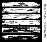 set of grunge brush strokes | Shutterstock .eps vector #484767193