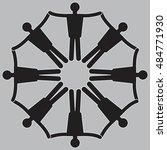 teamwork. collective.... | Shutterstock .eps vector #484771930