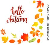 handwritten lettering  hello... | Shutterstock . vector #484775920