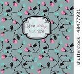 flowers and birds cover design... | Shutterstock .eps vector #48477931