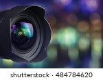 camera lens with bokeh... | Shutterstock . vector #484784620