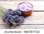bunch of lavender flowers with... | Shutterstock . vector #484787710