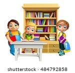 3d rendered illustration of kid ... | Shutterstock . vector #484792858