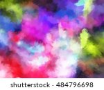brushed painted abstract... | Shutterstock . vector #484796698