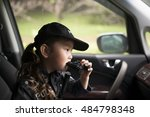 girl wearing a police costume... | Shutterstock . vector #484798348