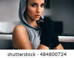 young fitness beautiful... | Shutterstock . vector #484800724
