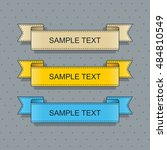 set of ribbons | Shutterstock .eps vector #484810549